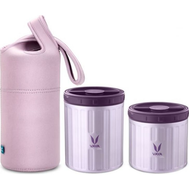 Stainless steel Preserve Lunch Kit ( 300 ml + 500 ml) in Purple Colour by Vaya