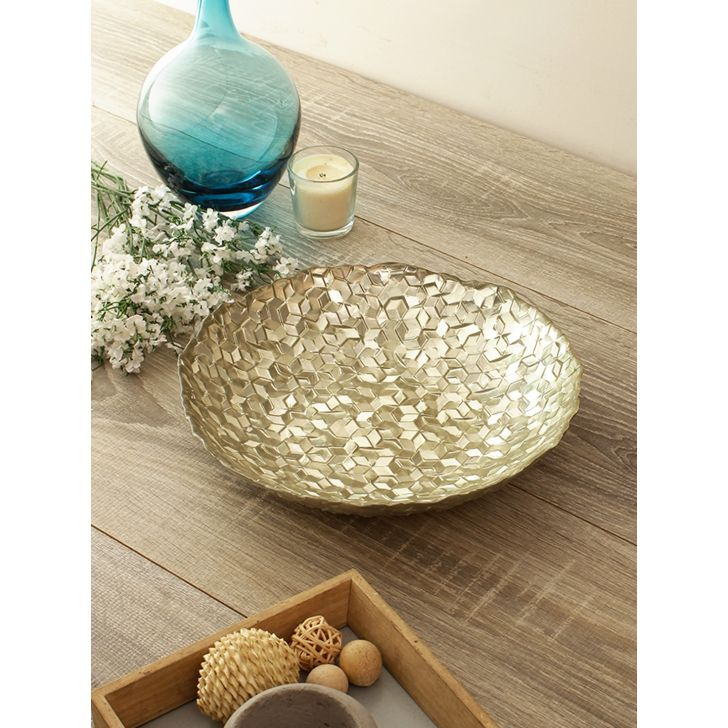 Jordan Glitter Glass Platter Glass Table D