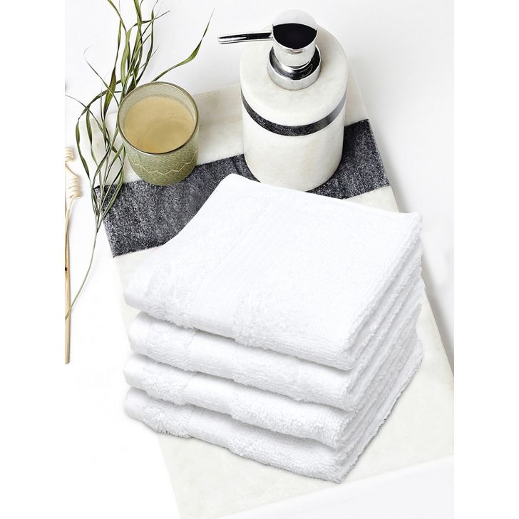Spaces Cotton Face Towel in White Colour by Spaces