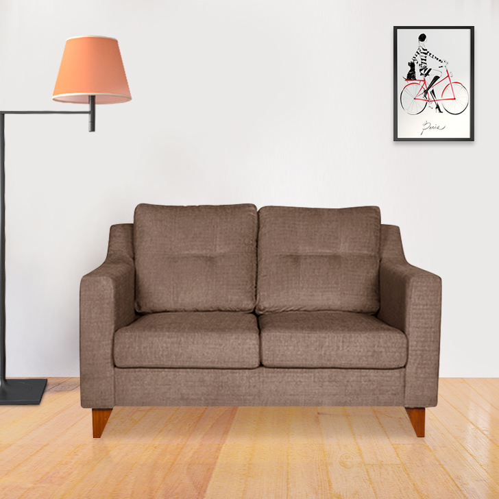 Ravioli Fabric Two Seater Sofa in Caramel Colour by HomeTown