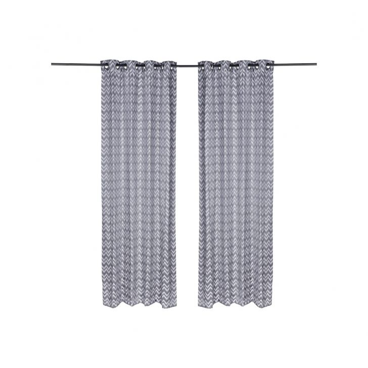 Florina Polyester Door Curtains in Charcoal Colour by Living Essence