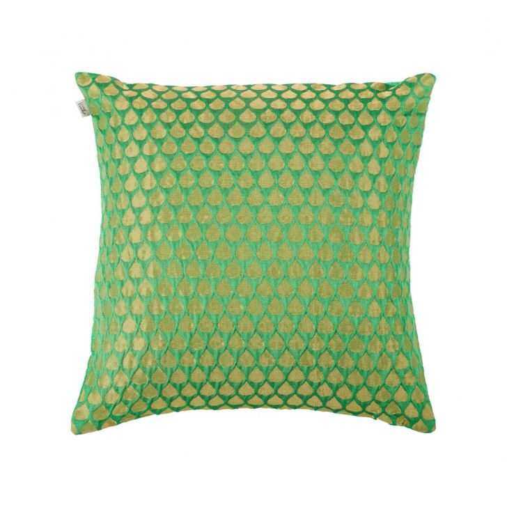 Drop Cushion Cover Green Polyester Cushion Covers in Green Colour by Living Essence