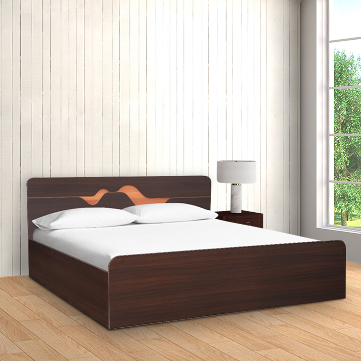 Tweady Engineered Wood Box Storage Queen Size Bed in Denever Oak Colour by HomeTown