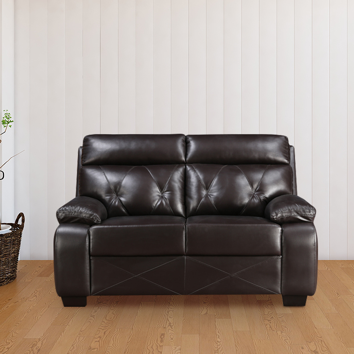 Adrian Two Seater Sofa in Brown Colour by HomeTown