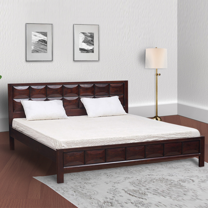 Florence Acacia Wood King Bed in Honey Colour by HomeTown