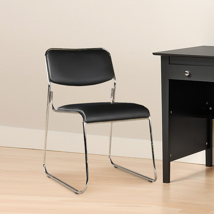 Desire Engineered Wood Office Chair in Black Colour by HomeTown
