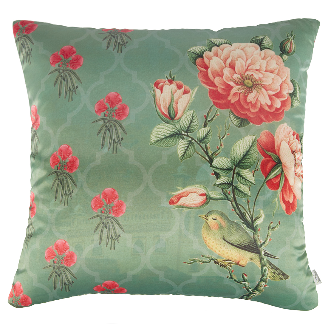 Digital Cushion Cover Floral Bunch Cushion Covers in Poly Satin Colour by Living Essence