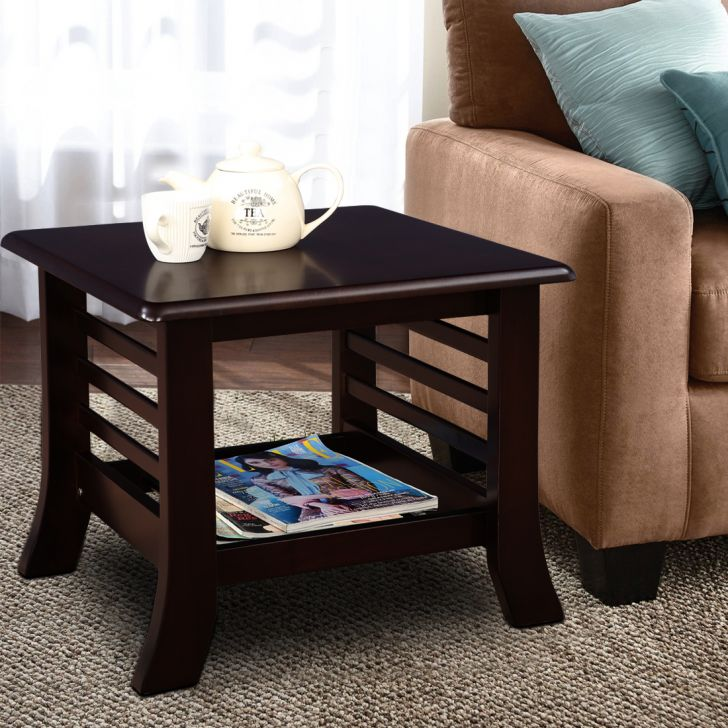 Herman Solid Wood Side Table in Brown Colour by HomeTown