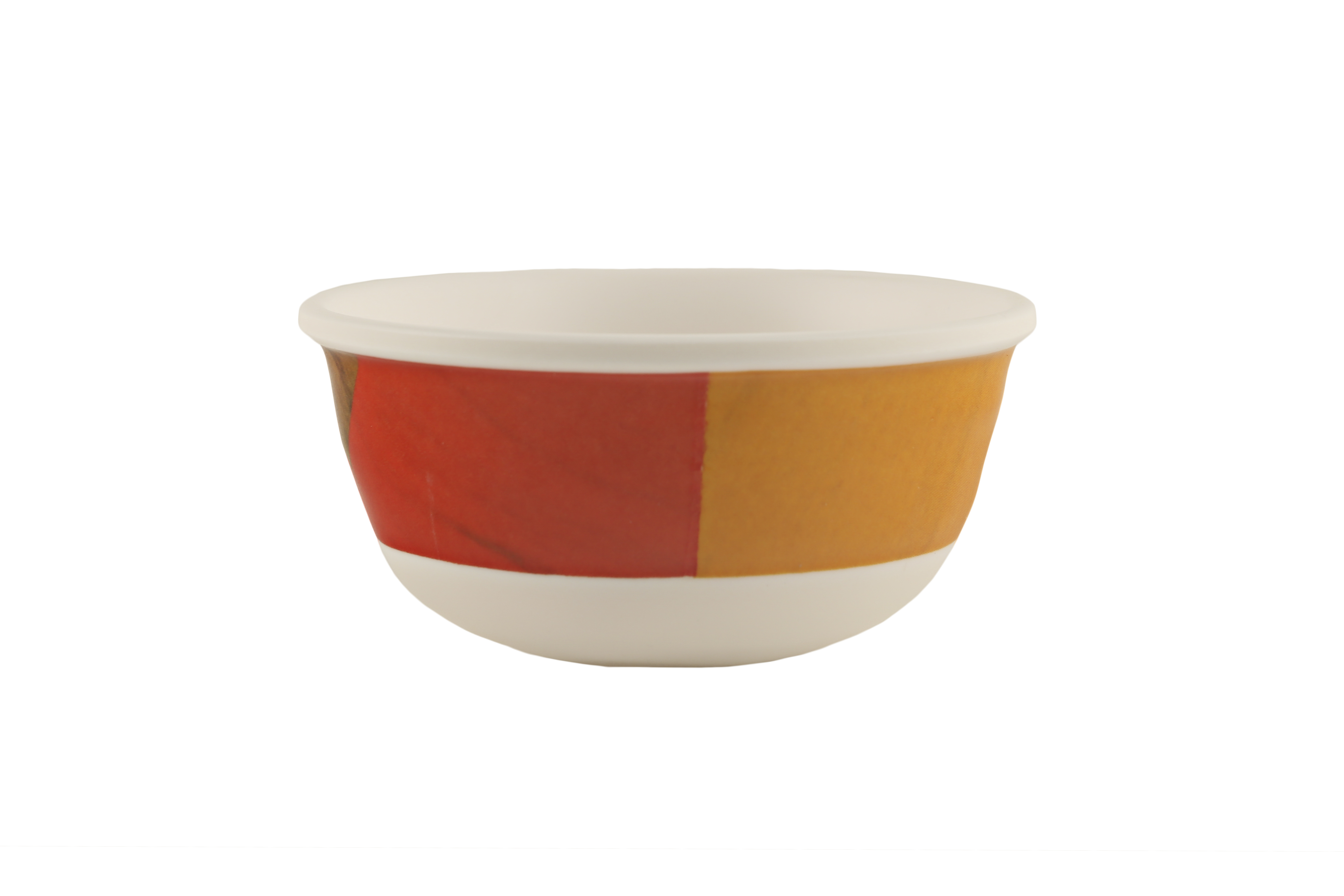 Persain Striped Woody Round Veg Bowl Food Grade Melamine Katori in Multicolor Colour by Living Essence
