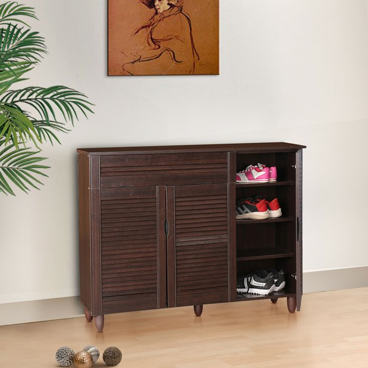 Carry Engineered Wood Shoe Rack in Wenge Color by HomeTown
