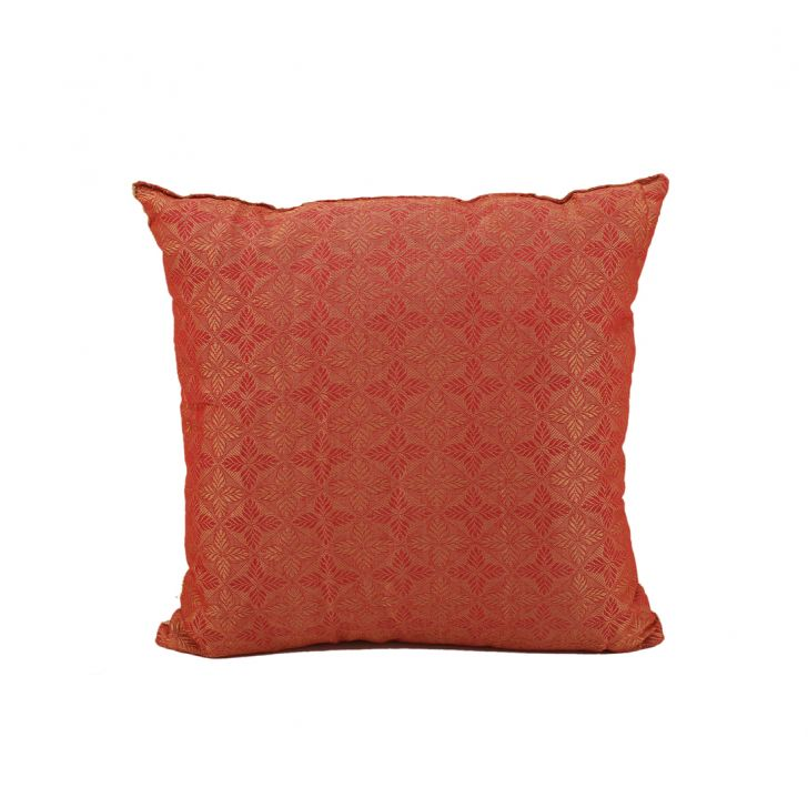 Miraya Peach Offwhite Polyester Filled Cushions in Peach Offwhite Colour by Living Essence