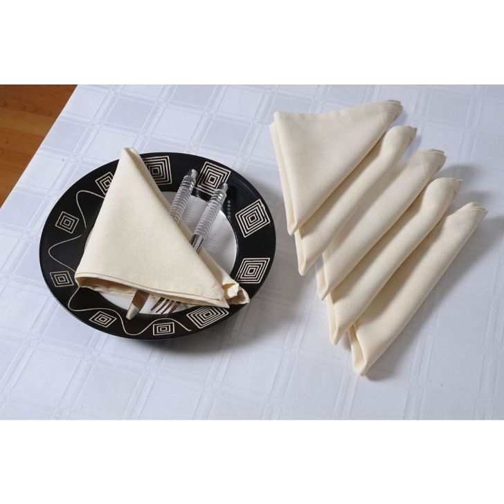 Solid Table Napkin In Cream Color By Swayam