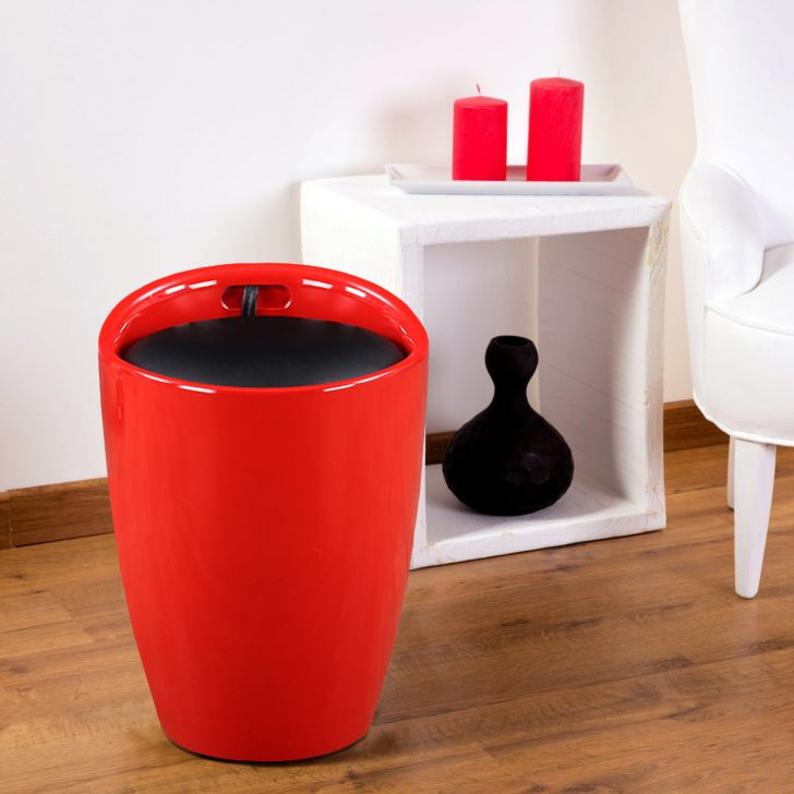 Luna Stool in Red Colour by HomeTown