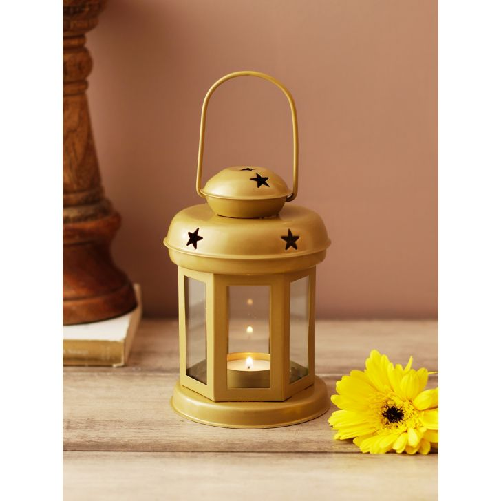 Allure Metal Candle Holders in Gold Colour by Living Essence