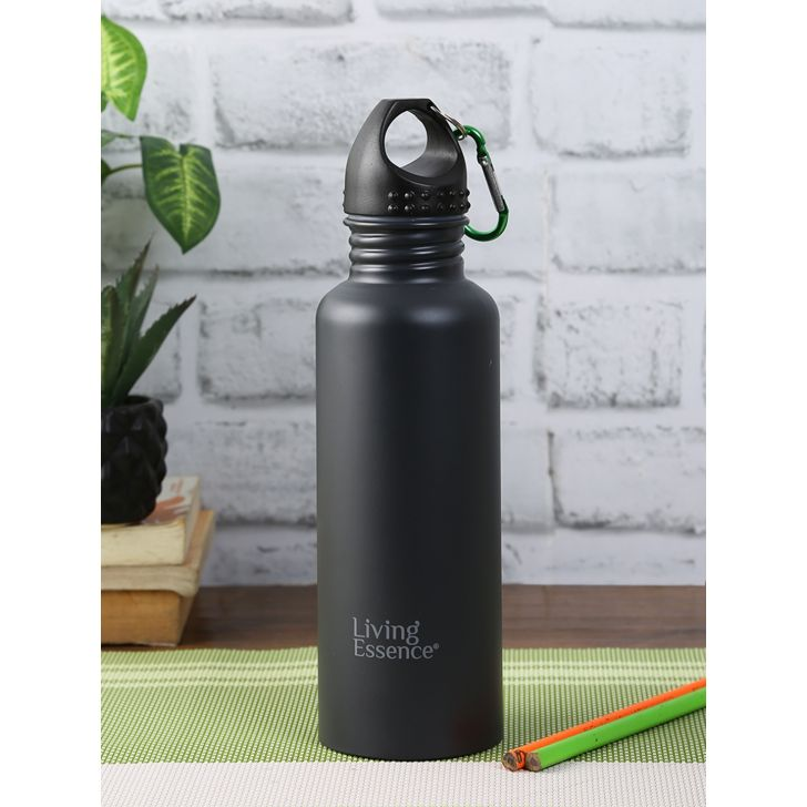 Living Essence Steel Pro Grey Bottle 1 Ltr in Grey Colour by Living Essence
