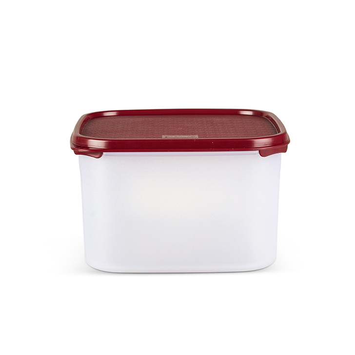 Polyset Magic Seal Container Square Red 2600 ml Containers by Living Essence