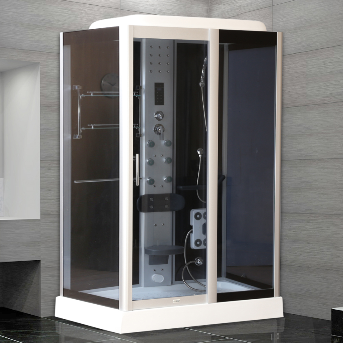 Axon Shower Multifunctions in Black & White Colour by HomeTown