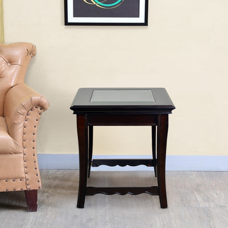 Nina Solid Wood End Table in Brown Colour by HomeTown