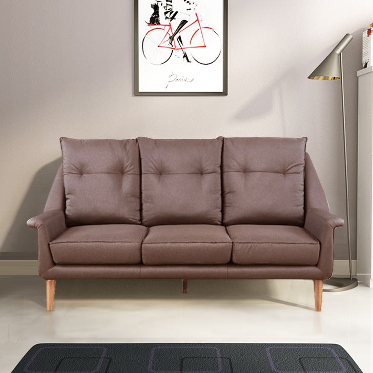 Orwell Fabric Three Seater Sofa in Brown Colour by HomeTown
