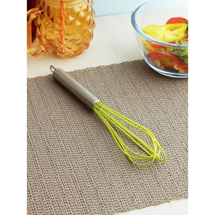 Silicon Mini Whisq 17.5 Cm in Green Colour by Bergner