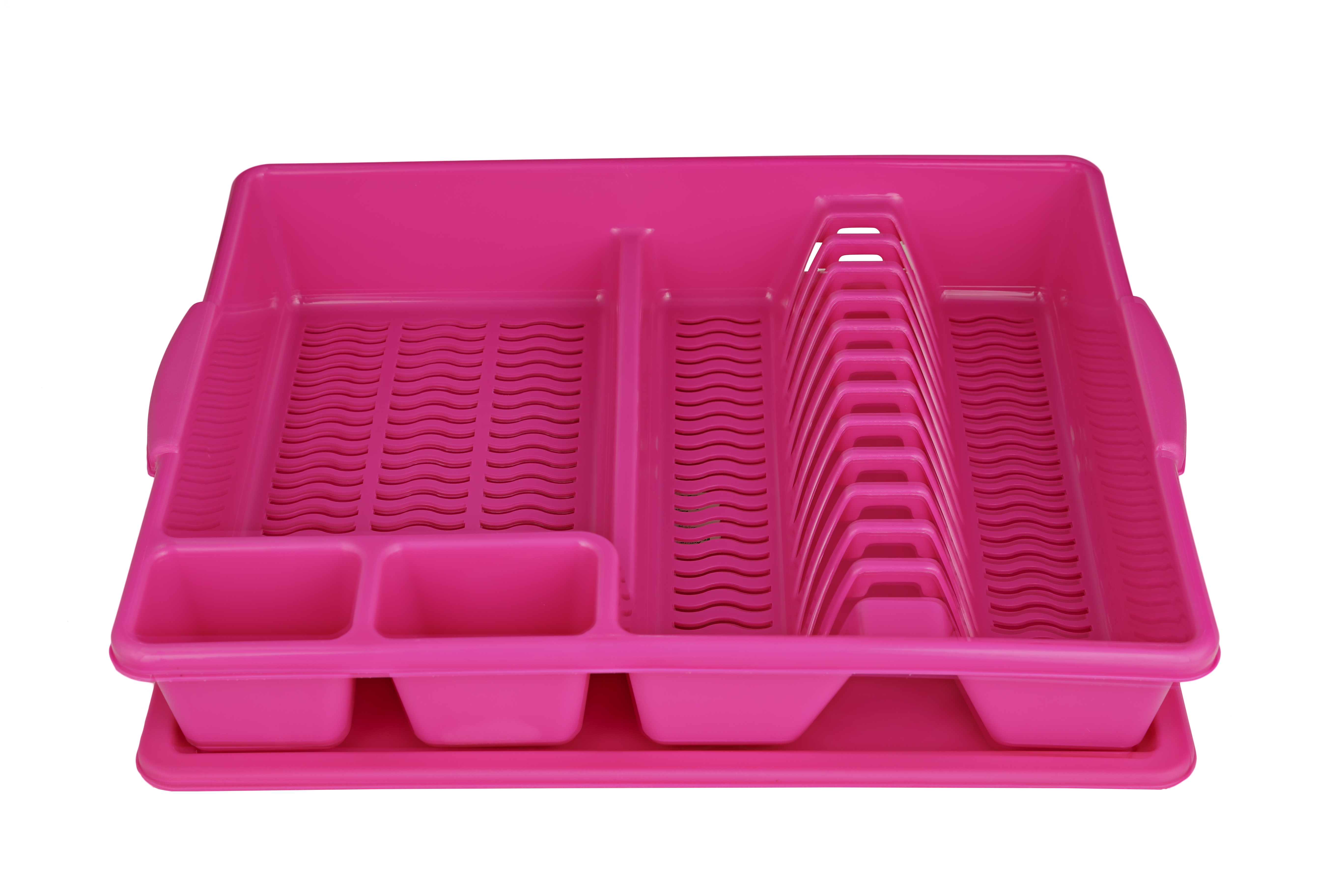 Dish Drainer Pink Plastic Others in Pink Colour by Living Essence