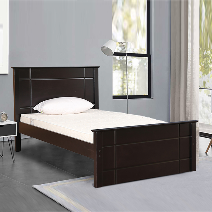 Zina Solid Wood Single Bed in Cappuccino Colour by HomeTown