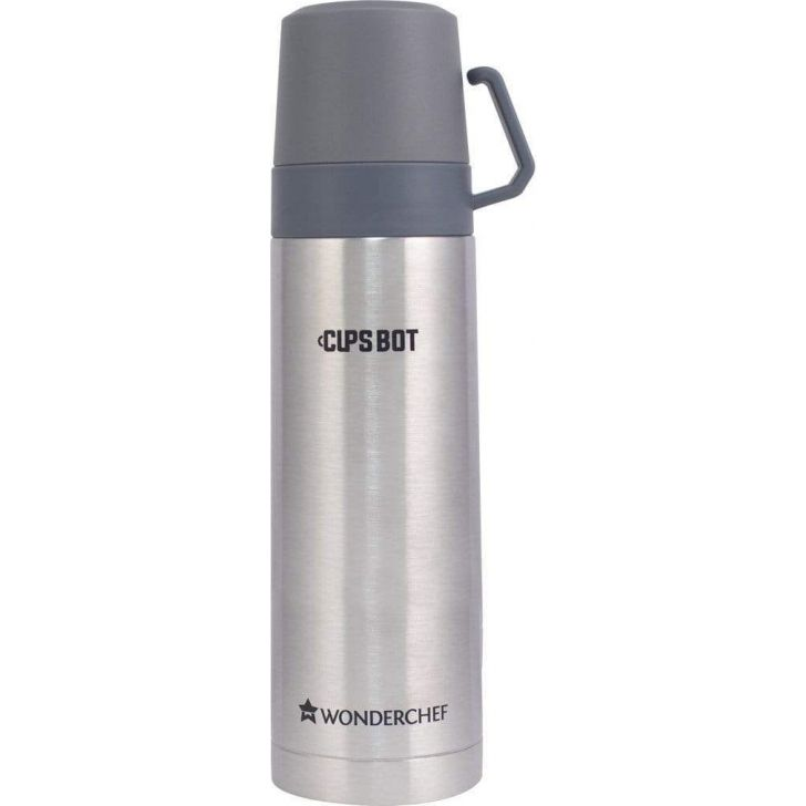 CupsBot Stainless steel Vacuum Insulated Hot And Cold Flask 350ML in Silver Colour