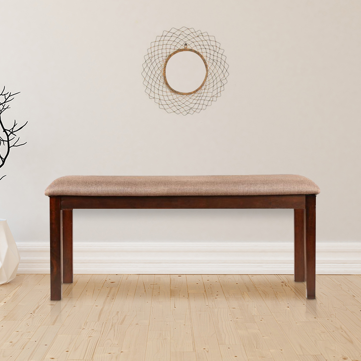 Stella Solid Wood Dining Bench in Dark Walnut Colour by HomeTown