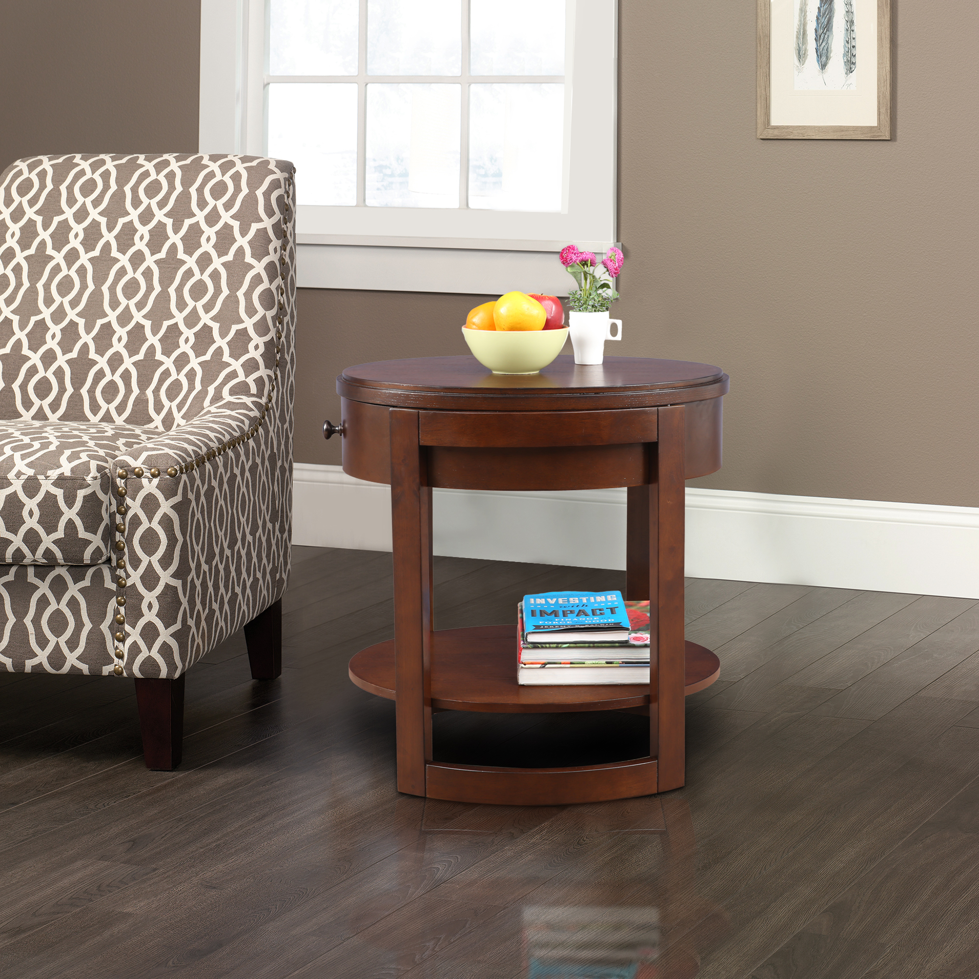 Watson Solid Wood Side Table in Brown Colour by HomeTown