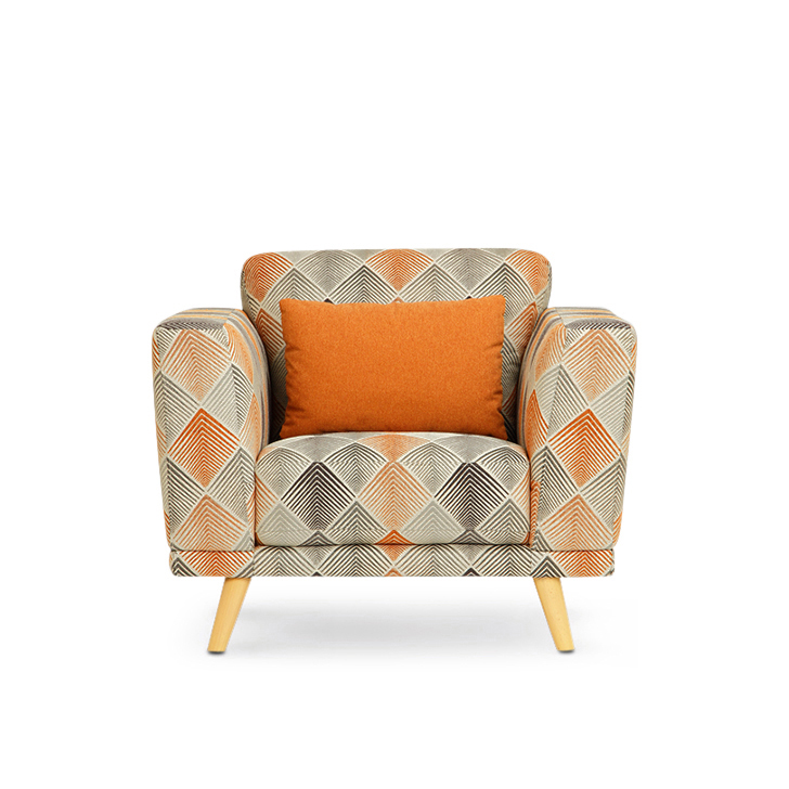 Beryl Fabric Single Seater Sofa in Rust Colour by HomeTown