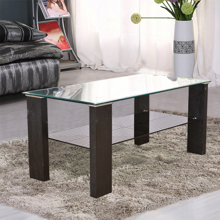 Alice Engineered Wood Center Table in Black Colour by HomeTown