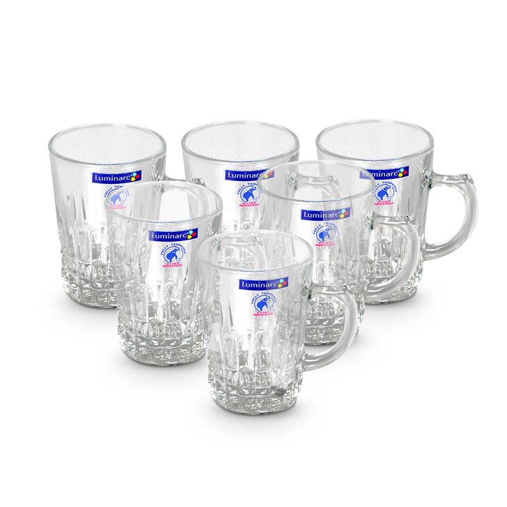 Lumnrc Tempered Imperator Mug Glass Glasses & Tumblers in Transparent Colour by Living Essence