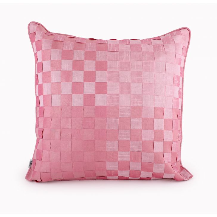 Basket Rose Cushion Cover Cotton Cushion Covers in Rose Colour by Living Essence