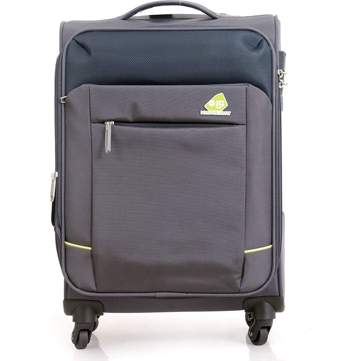 Motivo Clx 56.5 cm Polyester Soft Trolley in Grey Colour by Kamiliant