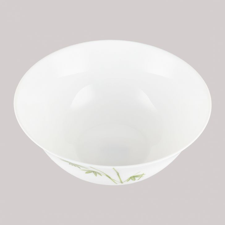 Diva Ivory Serving Bowl Green foliage Glass Serving Bowls in White Colour by Diva