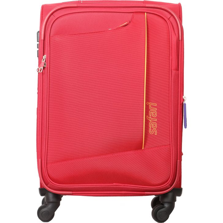 Safari Rush Secure 59 cm Soft Trolley (Red)