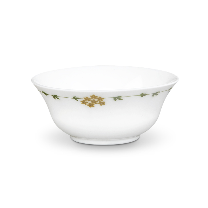 Florida Urmi Soup Bowl Ceramic Soup Bowls in White & Green Colour by Living Essence