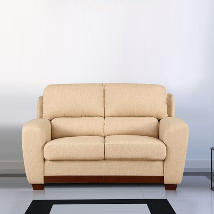 Brendon Fabric Two Seater sofa in Beige Colour by HomeTown