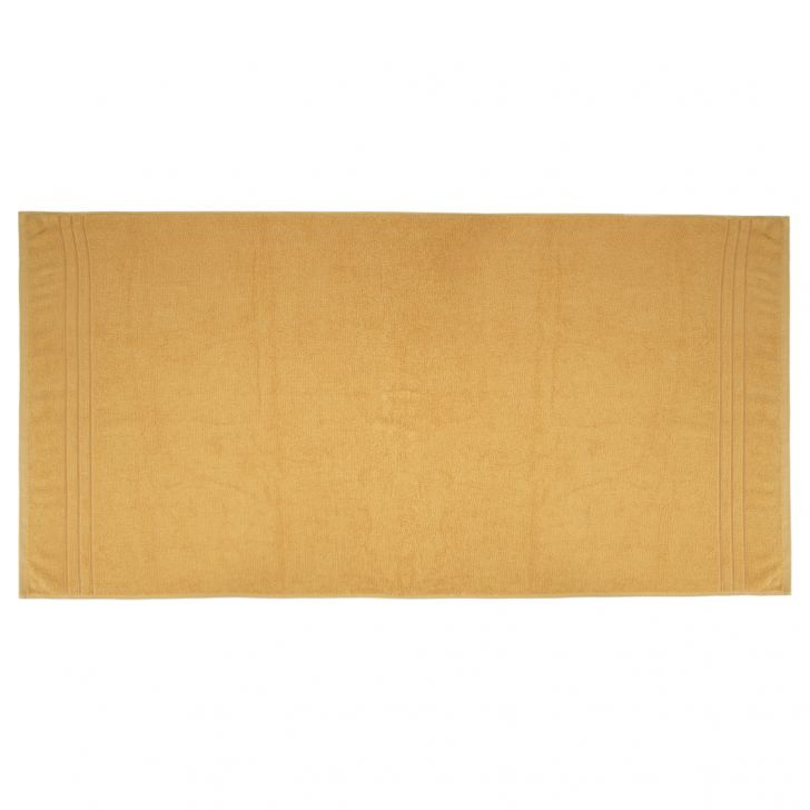 Bath Towel Nora Butterscotch Cotton Bath Towels in Butterscotch Colour by Living Essence