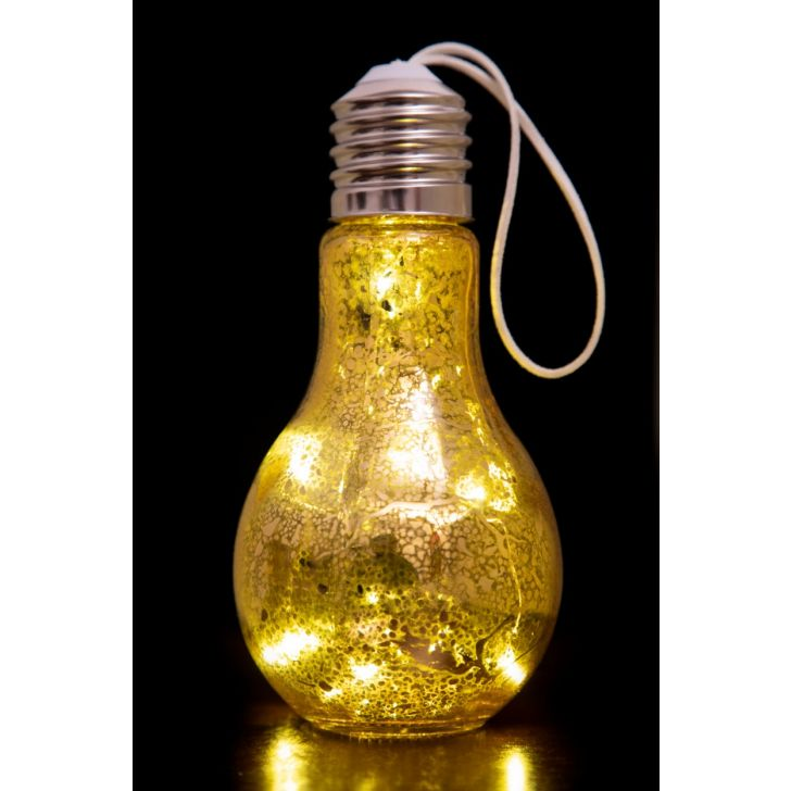 AW17 VENUS SHINE LIGHT BULB GLD Glass Accent Lighting in Golden Colour by Living Essence