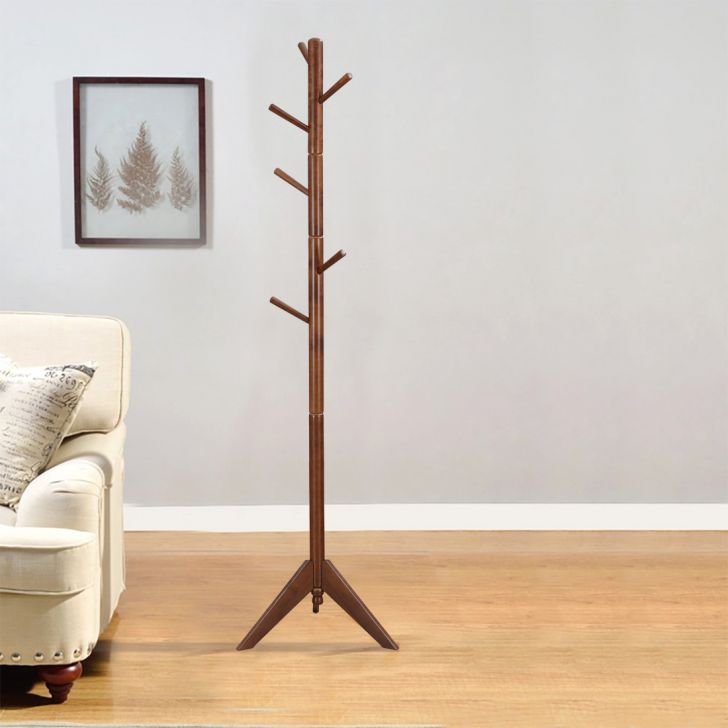 Muriel Engineered Wood Coat Hanger in Walnut Colour by HomeTown