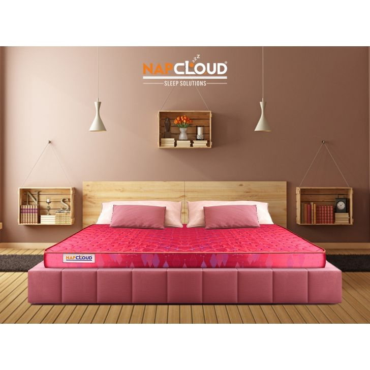 CocoNap Coir Double Mattress 72X48X4 Inch in Red Colour