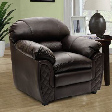 Mirage Single Seater Sofa In Brown Colour By Hometown
