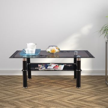 Morley Glass Center Table in Black Colour by HomeTown