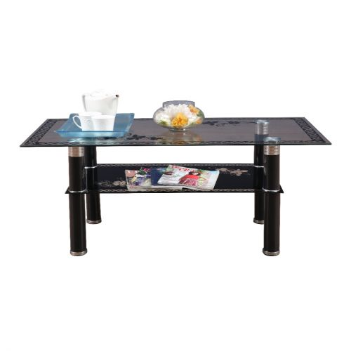 b1c99e3f82cee Buy Morley Glass Center Table in Black Colour by HomeTown Online at ...