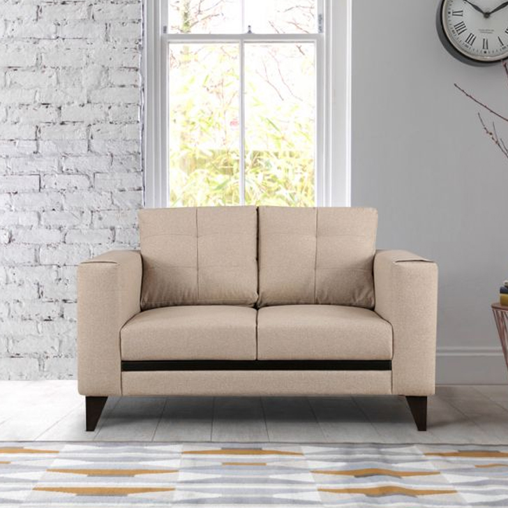 Garcia Fabric Two Seater sofa in Beige Colour by HomeTown