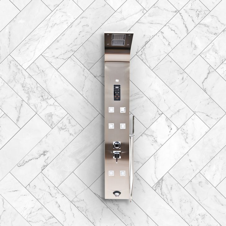 Charm Stainless steel Shower Multifunctions in Steel Colour by HomeTown