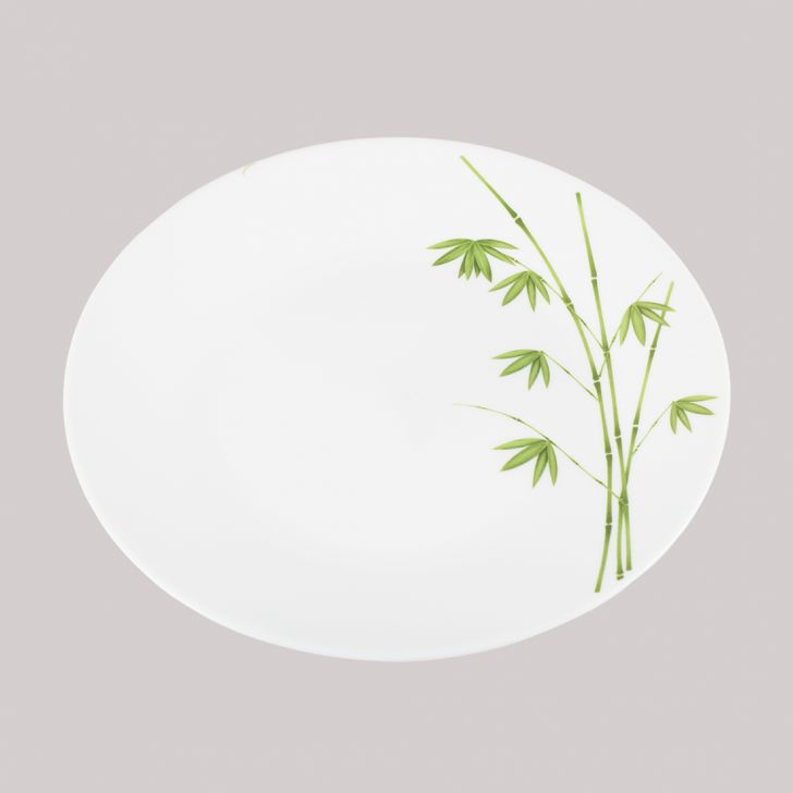 Diva Ivory Quarter Plate Foliage Glass Plates in White Colour by Diva