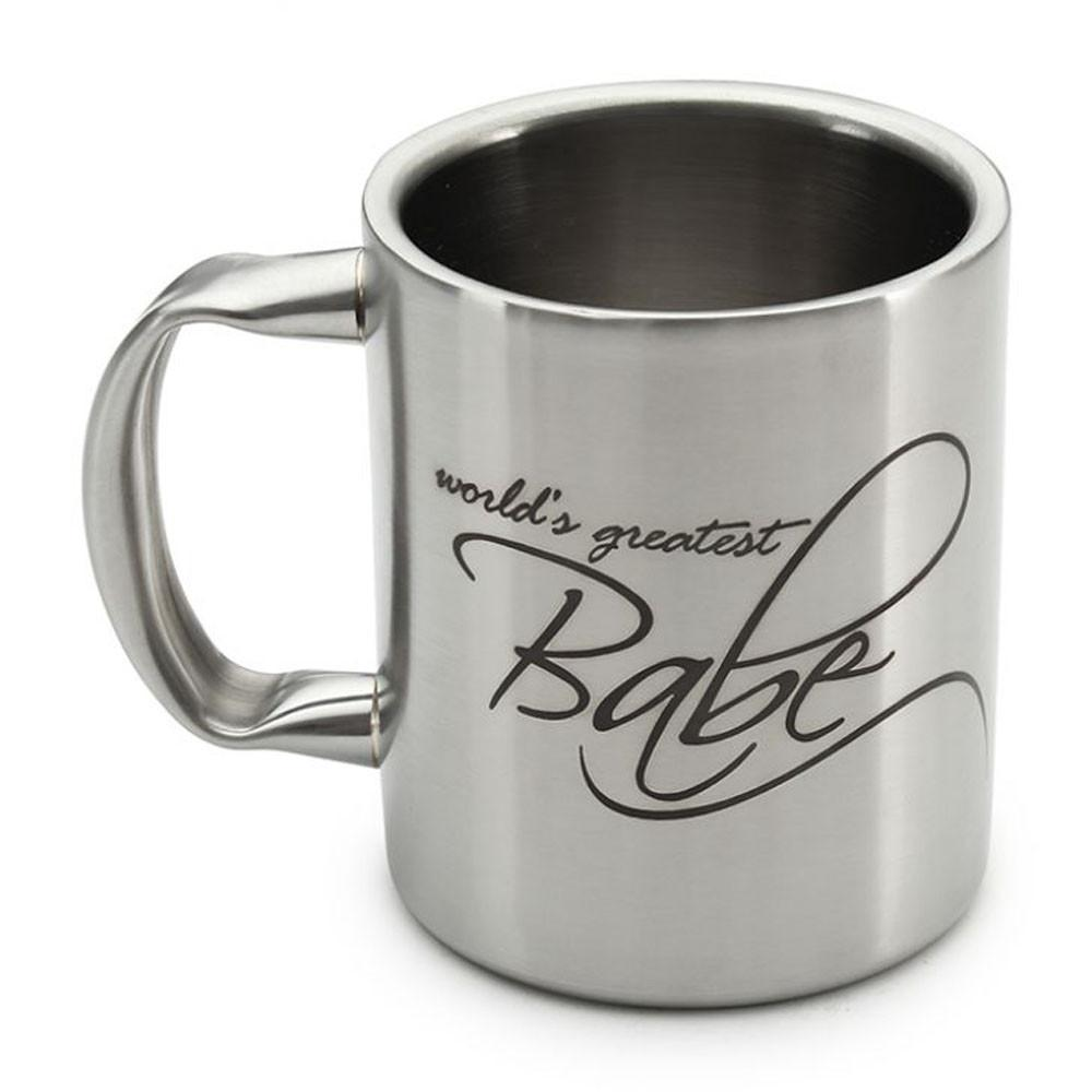 Hot Muggs World's Greatest Stainless Double Walled Mug Stainless steel Coffee Mugs in Silver Colour by HotMuggs
