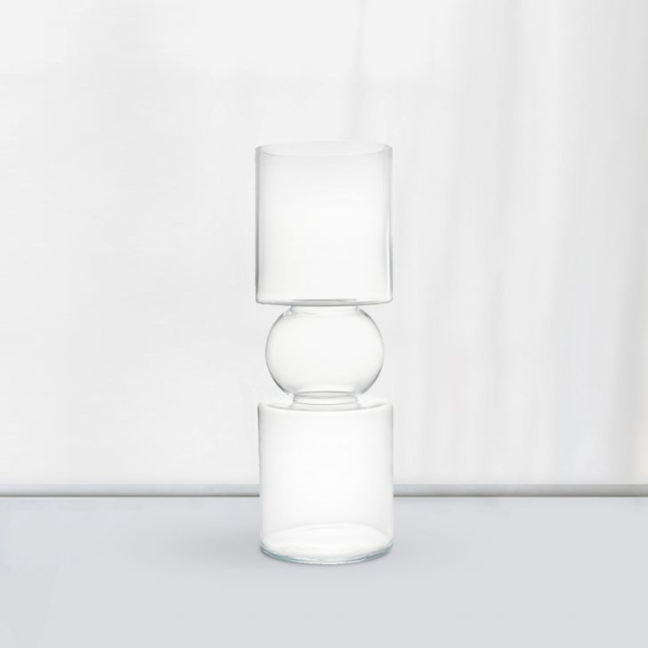 Nile Traditional Tall  Vase 50 Cm Glass Vases in CLEAR Colour by Living Essence